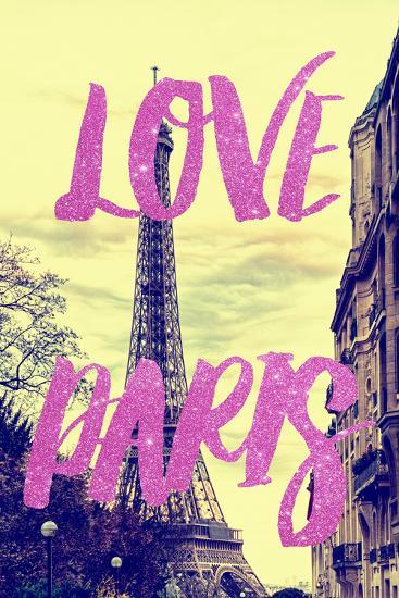 Paris Fashion Series - Love Paris - Eiffel Tower II-Philippe Hugonnard-Photographic Print