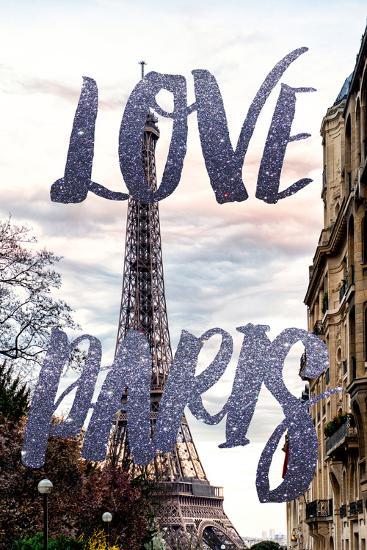 Paris Fashion Series - Love Paris - Eiffel Tower III-Philippe Hugonnard-Photographic Print