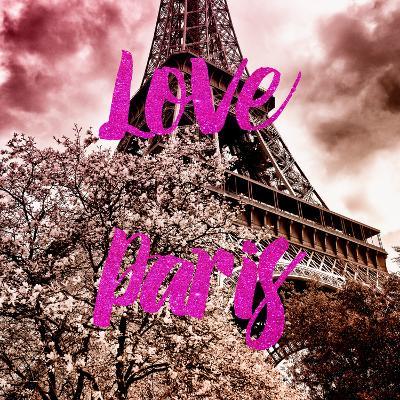 Paris Fashion Series - Love Paris - Pink Eiffel-Philippe Hugonnard-Photographic Print