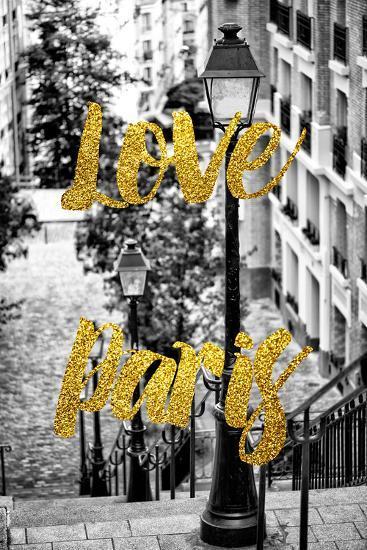 Paris Fashion Series - Love Paris - Stairs of Montmartre-Philippe Hugonnard-Photographic Print