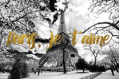 Paris Fashion Series - Paris, je t'aime - Eiffel Tower-Philippe Hugonnard-Photographic Print