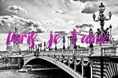 Paris Fashion Series - Paris, je t'aime - Paris Bridge II-Philippe Hugonnard-Photographic Print