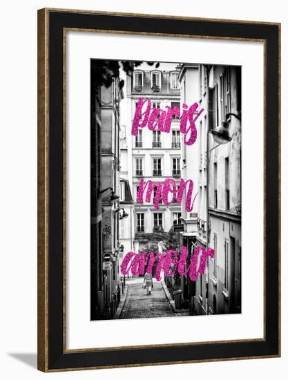 Paris Fashion Series - Paris mon amour - Montmartre IV-Philippe Hugonnard-Framed Photographic Print