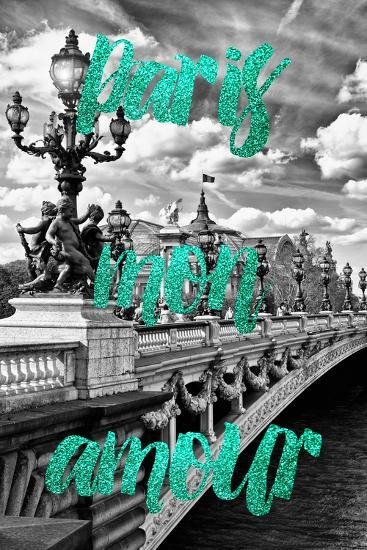 Paris Fashion Series - Paris mon amour - Paris Bridge III-Philippe Hugonnard-Photographic Print
