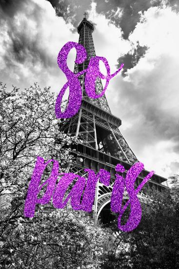 Paris Fashion Series - So Paris - Eiffel Tower III-Philippe Hugonnard-Photographic Print