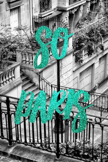 Paris Fashion Series - So Paris - Stairs of Montmartre II-Philippe Hugonnard-Photographic Print
