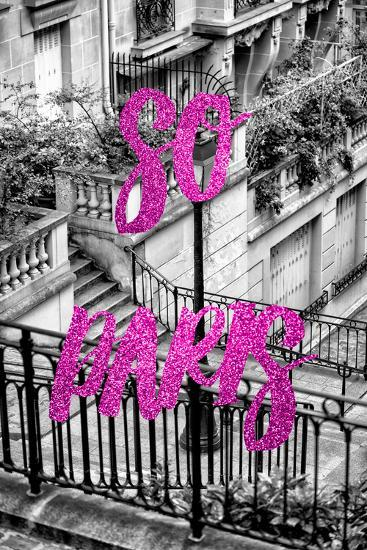 Paris Fashion Series - So Paris - Stairs of Montmartre III-Philippe Hugonnard-Photographic Print