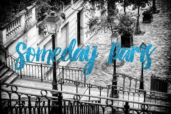 Paris Fashion Series - Someday Paris - Staircase of Montmartre IV-Philippe Hugonnard-Photographic Print