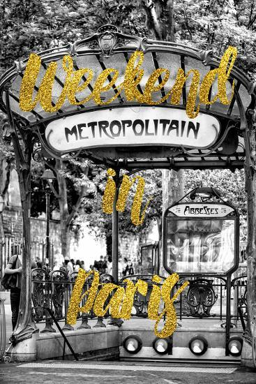 Paris Fashion Series - Weekend in Paris - Metropolitain Abbesses-Philippe Hugonnard-Photographic Print