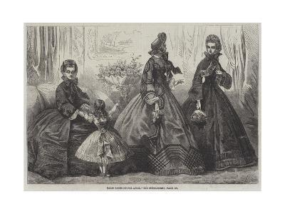 Paris Fashions for April-Frederic Theodore Lix-Giclee Print