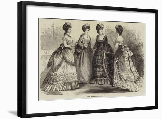 Paris Fashions for April--Framed Giclee Print