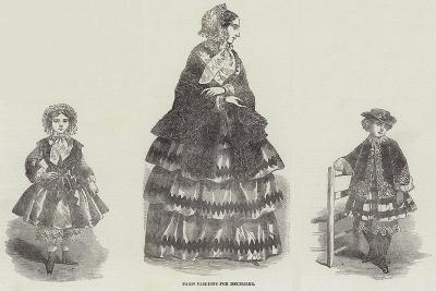 Paris Fashions for December--Giclee Print