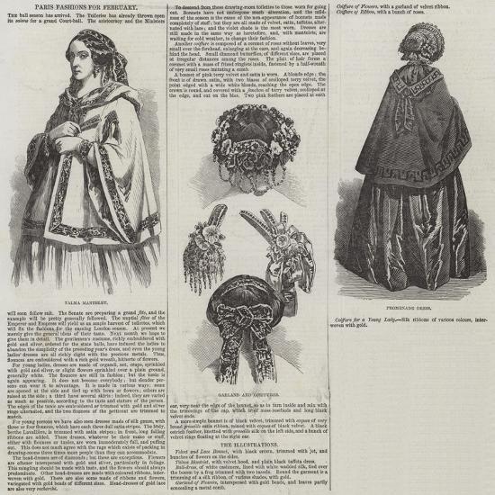 Paris Fashions for February--Giclee Print