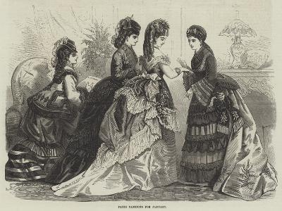 Paris Fashions for January--Giclee Print