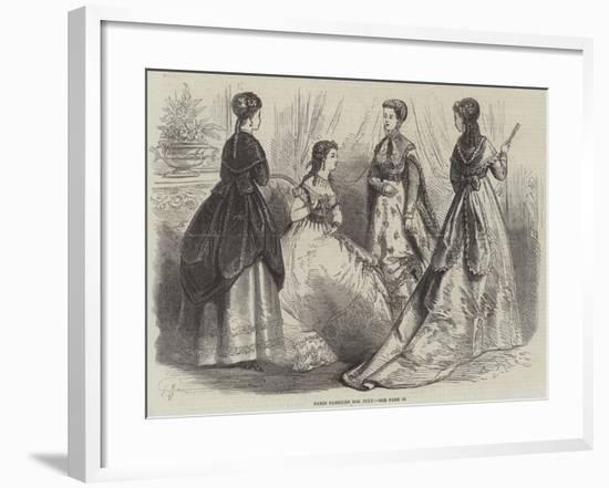 Paris Fashions for July--Framed Giclee Print