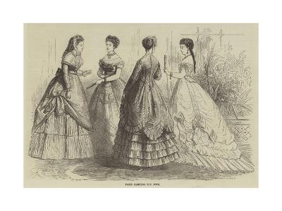 Paris Fashions for June--Giclee Print