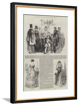 Paris Fashions for May--Framed Giclee Print