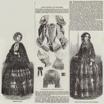 Paris Fashions for November--Giclee Print