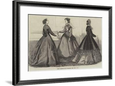 Paris Fashions for November--Framed Giclee Print
