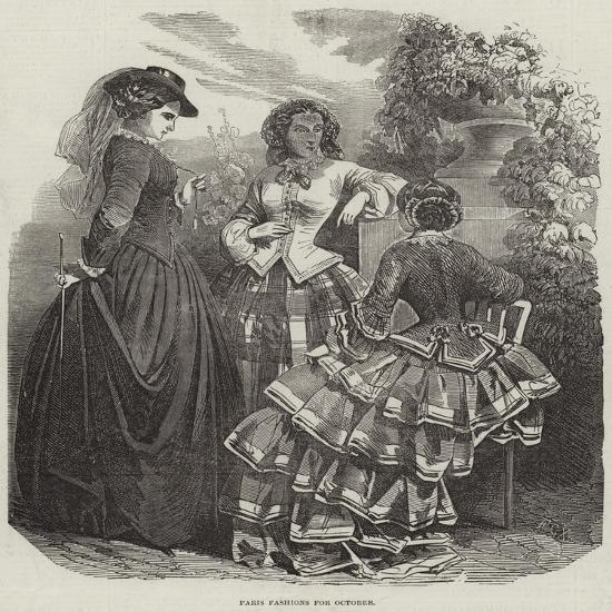 Paris Fashions for October--Giclee Print