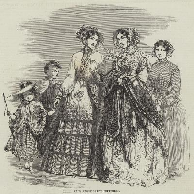 Paris Fashions for September--Giclee Print