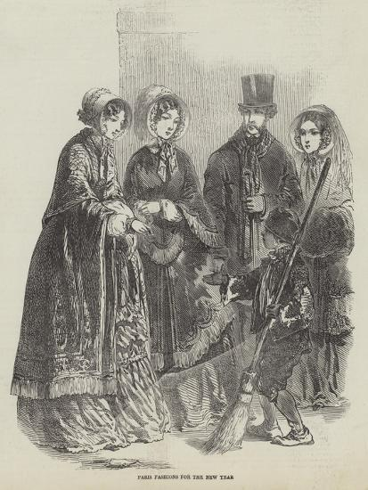 Paris Fashions for the New Year--Giclee Print