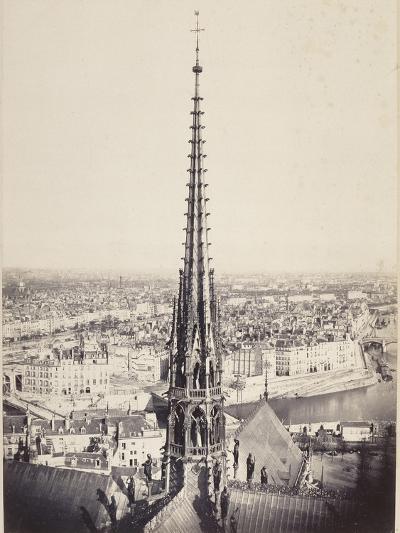 Paris, Flèche de Notre-Dame, en plomb et cuivre martelé, Viollet le Duc-Charles Marville-Giclee Print