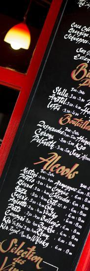 Paris Focus - Bar Menu-Philippe Hugonnard-Photographic Print