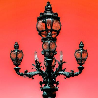 Paris Focus - Colors French Lamppost-Philippe Hugonnard-Photographic Print
