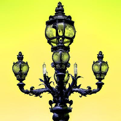 Paris Focus - Colors French Lamppost-Philippe Hugonnard-Photographic Print
