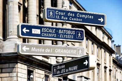 Paris Focus - Direction Signs-Philippe Hugonnard-Photographic Print