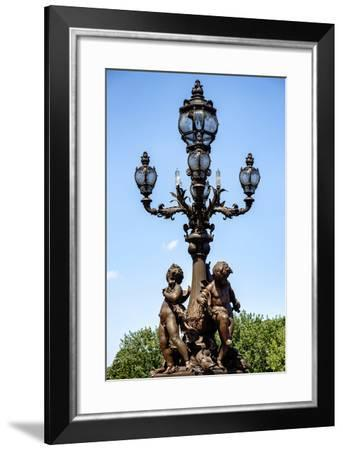 Paris Focus - French Lamppost-Philippe Hugonnard-Framed Photographic Print