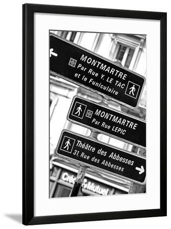 Paris Focus - Montmartre Directional Signs-Philippe Hugonnard-Framed Photographic Print