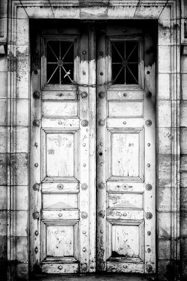 Paris Focus - Old White Door-Philippe Hugonnard-Photographic Print