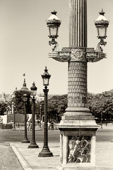 Paris Focus - Row of Lamps-Philippe Hugonnard-Photographic Print