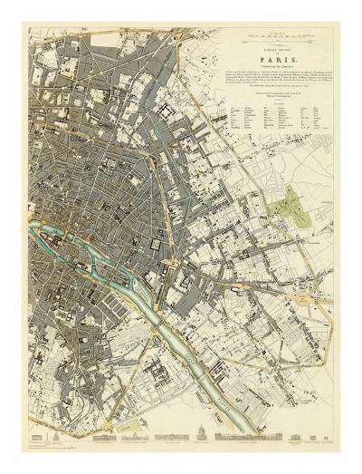 Paris, France, c.1834--Art Print