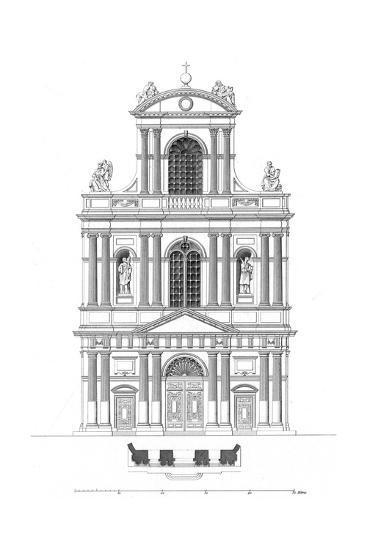 Paris, France - Eglise de Saint Gervais Et Saint Protais--Giclee Print