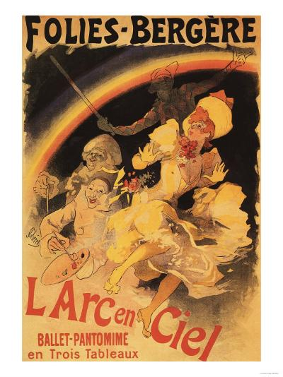 Paris, France - L'Arc-en-Ciel Ballet at Folies-Bergere Theatre Poster-Lantern Press-Art Print