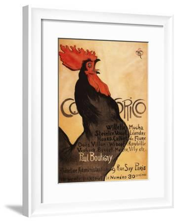 Paris, France - Periodical Cocorico Rooster Promotional Poster-Lantern Press-Framed Art Print