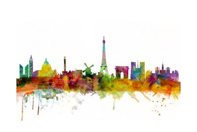 Paris France Skyline-Michael Tompsett-Art Print