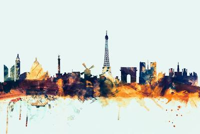 Paris France Skyline-Michael Tompsett-Art Print