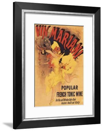 Paris, France - Vin Mariani Dancing Girl Pouring Wine Promotional Poster-Lantern Press-Framed Art Print