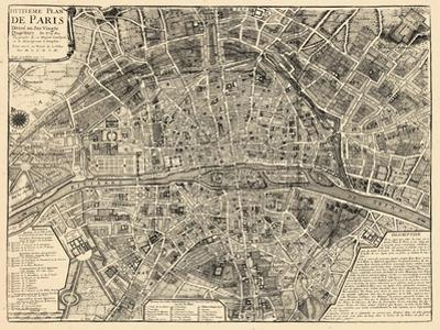 Paris, France, Vintage Map