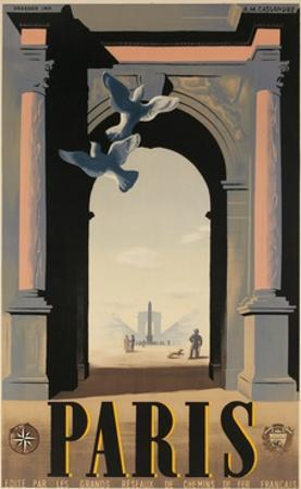 Paris, French Travel Poster, Arch