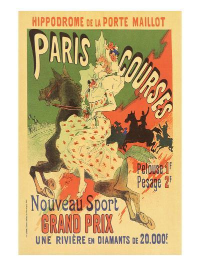 Paris Grand Prix Racing - the New Sport-Alphonse Mucha-Art Print