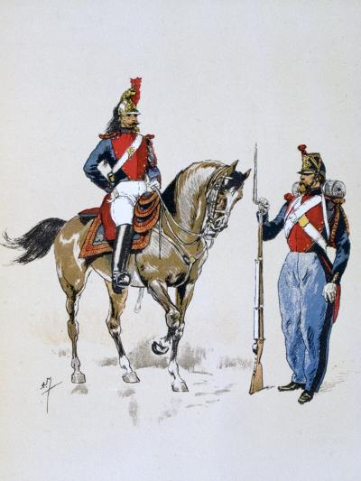 Paris Guard, 11 December 1852 - 10 September 1870-A Lemercier-Giclee Print