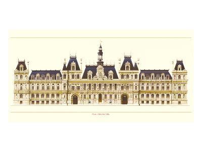Paris, Hotel de Ville-Libero Patrignani-Art Print