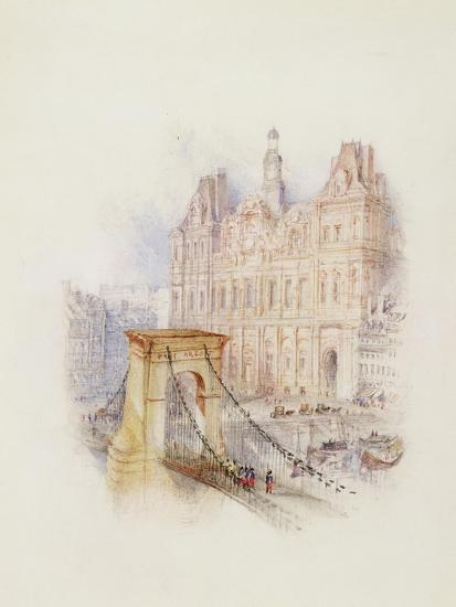 Paris: Hotel De Ville-J^ M^ W^ Turner-Giclee Print