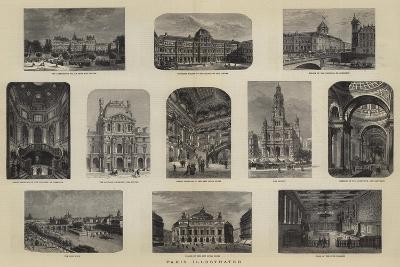 Paris Illustrated--Giclee Print