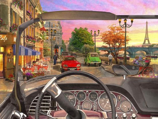 Paris in a Car-Dominic Davison-Art Print
